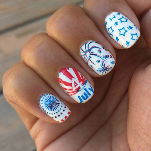 4th of July Nail Designs - Stars and Stripes Nails