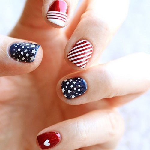 Adorable Fourth of July Nails