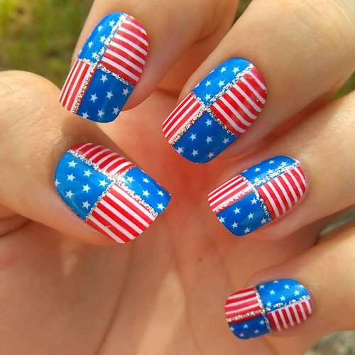 American Flag Nails - 4th of July Nails