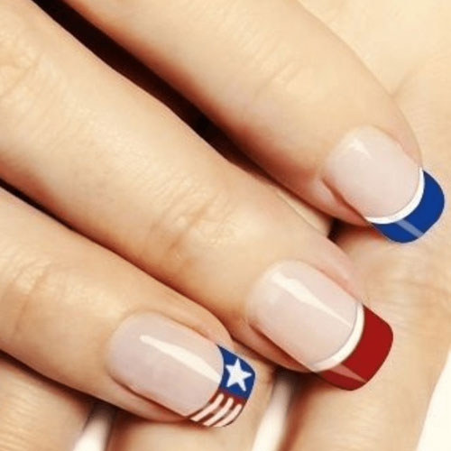 American French Nails - 4th of July Nails
