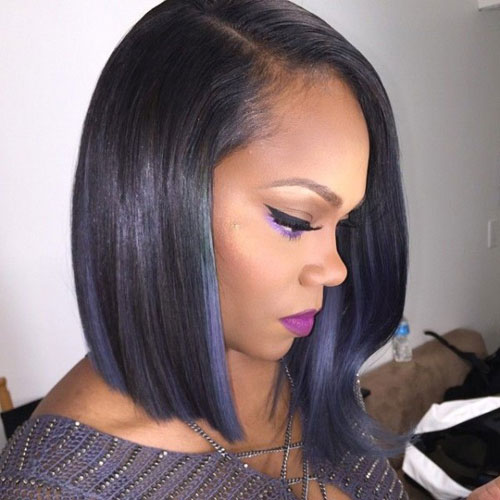Angles Black Bob Hairstyles - Sleek Bob