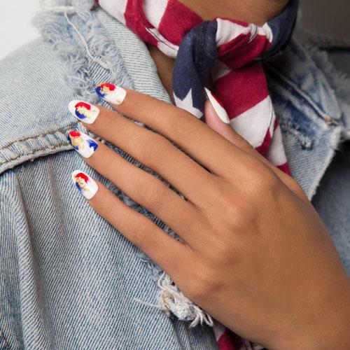 Artistic 4th of July Nail Art