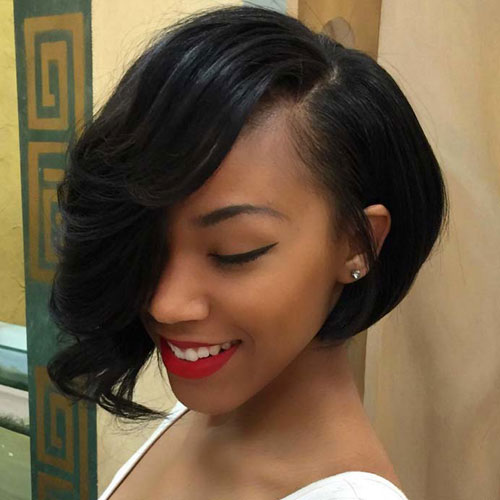Asymmetrical Bob Hairstyles for Black Women
