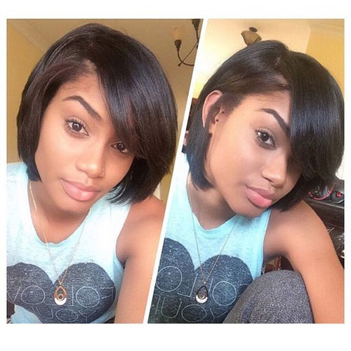 Best Bob Hairstyles for Black Women - Bob with Bangs