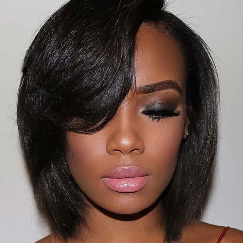 Best Bob Hairstyles with Bangs - Black Hair Bob