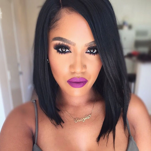 Bob Haircuts for Black Women - Long Bob Black Hair