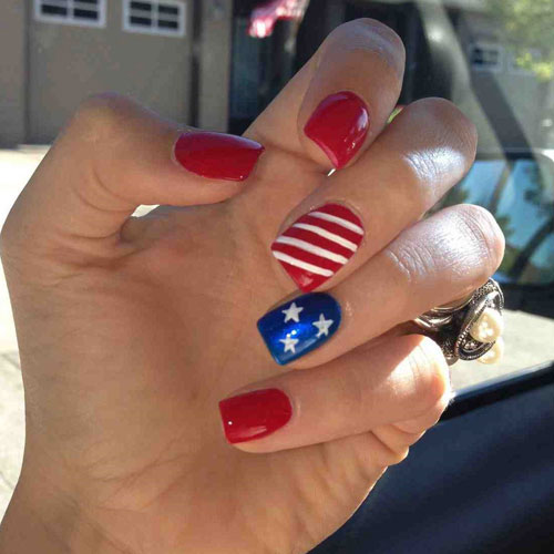 Classic 4th of July Nails