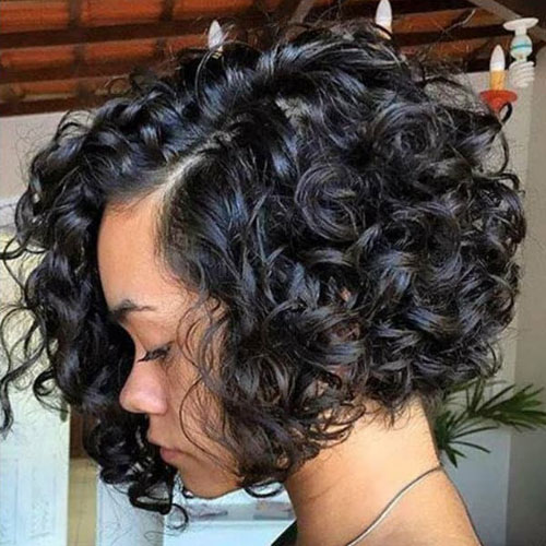 Curly Short Bobs for Black Women