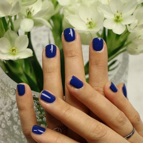 Deep Royal Blue Nail Designs - Classic 4th of July Nails