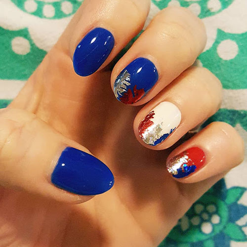 Fourth of July Nails - Blue Nail Designs