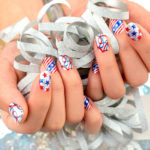 Gorgeous 4th of July Nails -Sparkly Nails