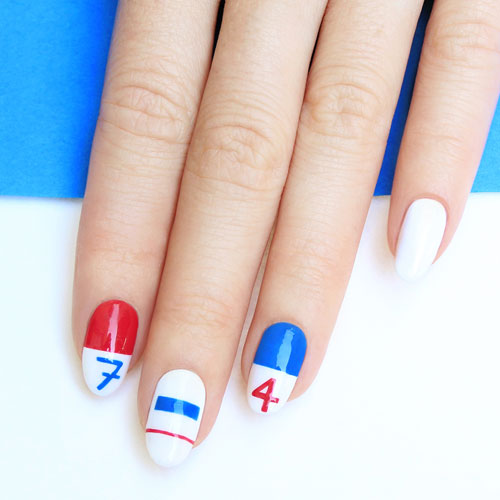 July Fourth Nails - Cool Art Designs - Patriotic Nail Designs