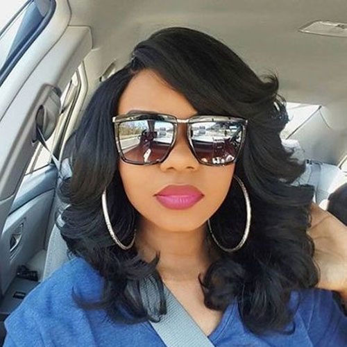 Medium Length Black Hairstyles - Bob Hairstyles for Black Women