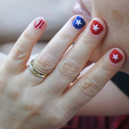 Patriotic Nails - Stars and Stripes 4th of July Nails