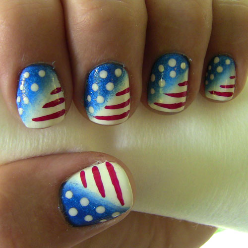 Red White and Blue Nails - Patriotic Nails