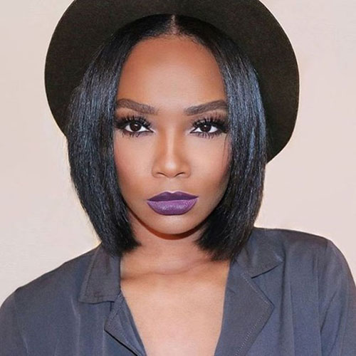 Short Bob Haircuts for Black Women - Sleek Bob