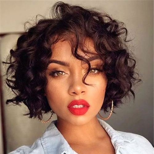 Short Wavy Bob Hairstyles for Black Women