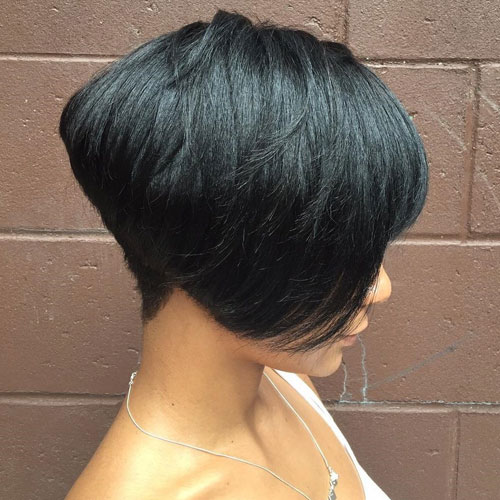 Undercut Black Hair Bob