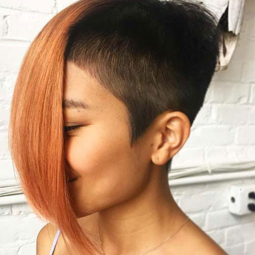 Undercut Bob Hairstyles for Black Women